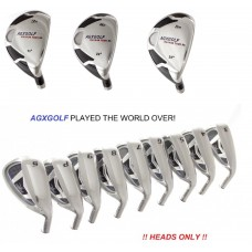AGXGOLF Magnum XS Iron Heads Sets: Select The Combination Best for You: Hybrids: 3, 4 or 5: Irons 3,4,5,6,7,8 & 9: PW & SW ! Heads ONLY! 431 Stainless Steel .370 Hosel