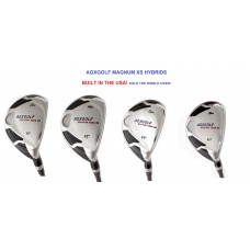 AGXGOLF LADIES MAGNUM XS HYBRID IRONS 3, 4, 5 or 6 w/GRAPHITE SHAFT & COVER: CHOOSE, LEFT or RIGHT HAND, LENGTH & LOFT