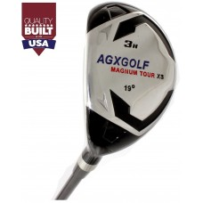 AGXGOLF MEN'S LEFT HAND MAGNUM XS SERIES #3, 4, 5 & 6 HYBRID IRONS: CHOOSE YOUR FLEX, YOUR CLUB  AND CLUB LENGTH