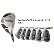 MEN'S RIGHT HAND AGXGOLF MAGNUM GRAPHITE IRONS SET w/4 HYBRID +5-9 IRONS +PW & SW