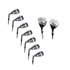 AGXGOLF MEN'S LEFT HAND MAGNUM IRONS SET 3 & 4 HYBRID+5-9 IRONS + PW + SW: CHOOSE FLEX AND LENGTH - USA BUILT