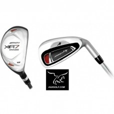 MEN'S HT STAINLESS STEEL IRONS SET #4 HYBRID IRON+5,6,7,8,9+PITCHING WEDGE: ALL SIZES