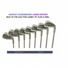 "AGXGOLF ""LEADERBOARD"" LADIES ALL GRAPHITE IRONS SET 3-PW: PETITE, REGULAR OR TALL LENGTHS.  BUILT IN THE USA!!"