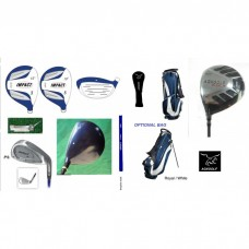 GIRL'S LEFT HAND AGXGOLF IMPACT GRAPHITE GOLF CLUB SET+FREE PUTTER+3 HEAD COVERS