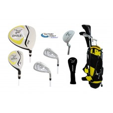 Junior Eagle Graphite Golf Clubs Set for Boys & Girls w/Stand Bag, Putter and Two Head Covers: 4-6yrs, 7-9yrs & 9-12yrs