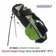 "AGXGOLF JUNIOR STAND GOLF BAGS: 27"", 28"" or 30 Inch: Select the size that fits your junior Golfer"