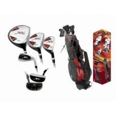 BOYS LEFT XV GOLF CLUB SET w460cc DRIVER STAND BAG & FREE PUTTER: TEEN OR TWEEN LENGTH