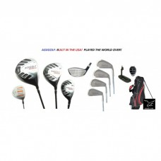 AGXGOLF Mens Tour Executive Golf Club Set wStand Bag and Free Putter Bonus Utility Wood Built in U.S.