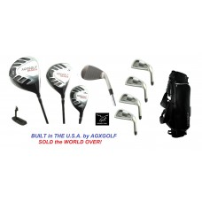 MEN'S MAGNUM SERIES EXECUTIVE GOLF CLUB SET w/STAND BAG: RIGHT HAND: CADET, REGULAR, & TALL SIZES
