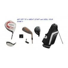 AGXGOLF MAGNUM-TRIUMPH EDITION: FULL GOLF CLUB SET wSTAND BAG + FREE PUTTER: DRIVER+5 WD+HY+4-9 IRONS+PW+SW+PUTTER+STAND BAG