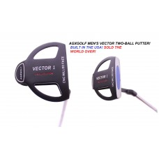 """AGXGOLF VECTOR SERIES """"TWO-BALL PUTTER"""": LADIES RIGHT HAND: AVAILABLE IN PETITE, REGULAR AND TALL"""