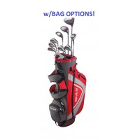 TOP-FLITE MEN'S XL SENIOR ALL GRAPHITE EDITION: FULL GOLF CLUB SET WITH STAND BAG OPTION & FREE PUTTER: AVAILABLE in  RIGHT HAND; CADET & REGULAR LENGTH
