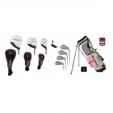 LADIES LEADERBOARD TOUR EDITION COMPLETE GOLF CLUB SET - PINK - w/Stand Bag, Driver, Fairway Wood, Hybrid, Irons & Putter: Petite & Tall sizes