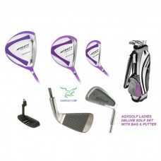 AGXGOLF LADIES XPLODE PURPLE EDITION COMPLETE GOLF CLUB SET: PETITE, REGULAR, OR TALL LENGTH + BAG