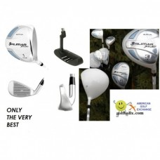 LADIES AGXGOLF ARIA: FULL GOLF CLUB SET WITH WITH GRAPHITE SHAFT WOODS: PETITE, REGULAR, TALL