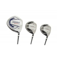 AGXGOLF Magnum XLT Driver + 3 & 5 Fairway Woods Set w/Graphite Shafts: Choose Length & Flex; Left or Right Hand: Includes Head Covers For All Three Woods
