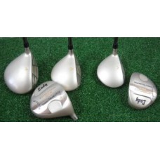 """GIRLS """"LADY CALCUTTA"""" SELECT EDITION: DRIVER AND FAIRWAY WOODS; GRAPHITE w/HEAD COVERS"""