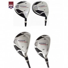 AGXGOLF LADIES MAGNUM XS WOODS (3 & 5)  AND 3 & 4 HYBRID IRONS SET: with LADY FLEX GRAPHITE SHAFTS and HEAD COVERS