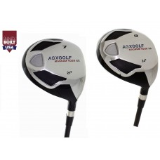 AGXGOLF LADIES XS 7 & 9 FAIRWAY WOODS wGRAPHITE SHAFTS: RIGHT HAND w/Cover(s): BUILT in the USA!!